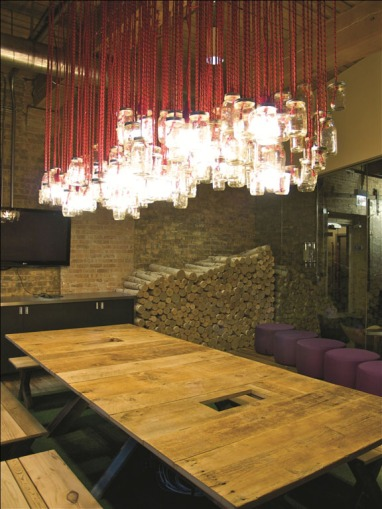 Conference-Room-with-Mason-Jar-Chandelier