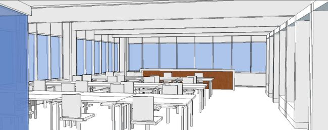 Interior Office - view 04 at back bar